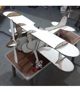 80cm Çift Kanatlı Maket Uçak 3D PUZZLE