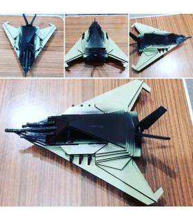 F117 STEALTH 3D PUZZLE Hayalet Uçak Maketi